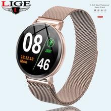 N58 LIGE Womens Smart Watch Health Monitor Heart Rate / Blood Pressure Waterproof Pedometer Mens Watches Sports Smartwatch
