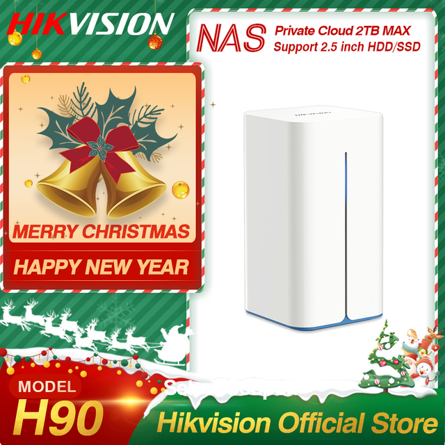 Hikvision NAS Private Cloud Sharing Network Attached Storage Server for Home support HDD/SSD 2.5 inch HikStorage H90