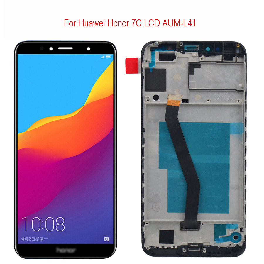 5.7 Inch LCD Display For Huawei Honor 7C Aum-L41 Aum-L41 ATU LX1 / L21 For Huawei 7A Pro AUM-L29 Touch Screen Digitizer Assembly