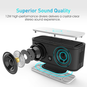 Image 3 - דוס SoundBox מגע ורוד Bluetooth רמקול 2*6W נייד אלחוטי רמקולים סטריאו צליל תיבת עם בס Parlante bluetooth טור