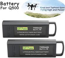 2pcs original gifi 3s 11.1v 7500mah atualizar vôo lipo bateria para yuneec q500 4k rc zangão