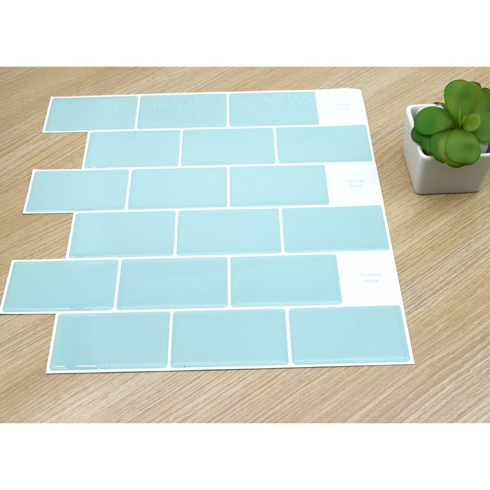 1PC 3D Subway Tiles Wall Sticker 12''X12'' Wallpaper Decor Kitchen and Bathroom Epoxy Resin Vinyl Paper Bricks Waterproof