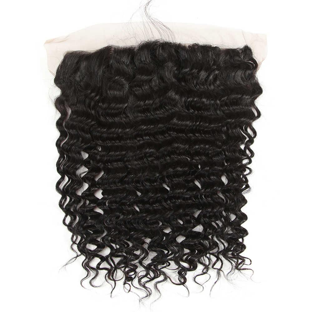 Joedir Human Hair Water Wave Bundles With Frontal Curly Human Hair Bundles With Frontal Lace Frontal With Bundle For Black Women
