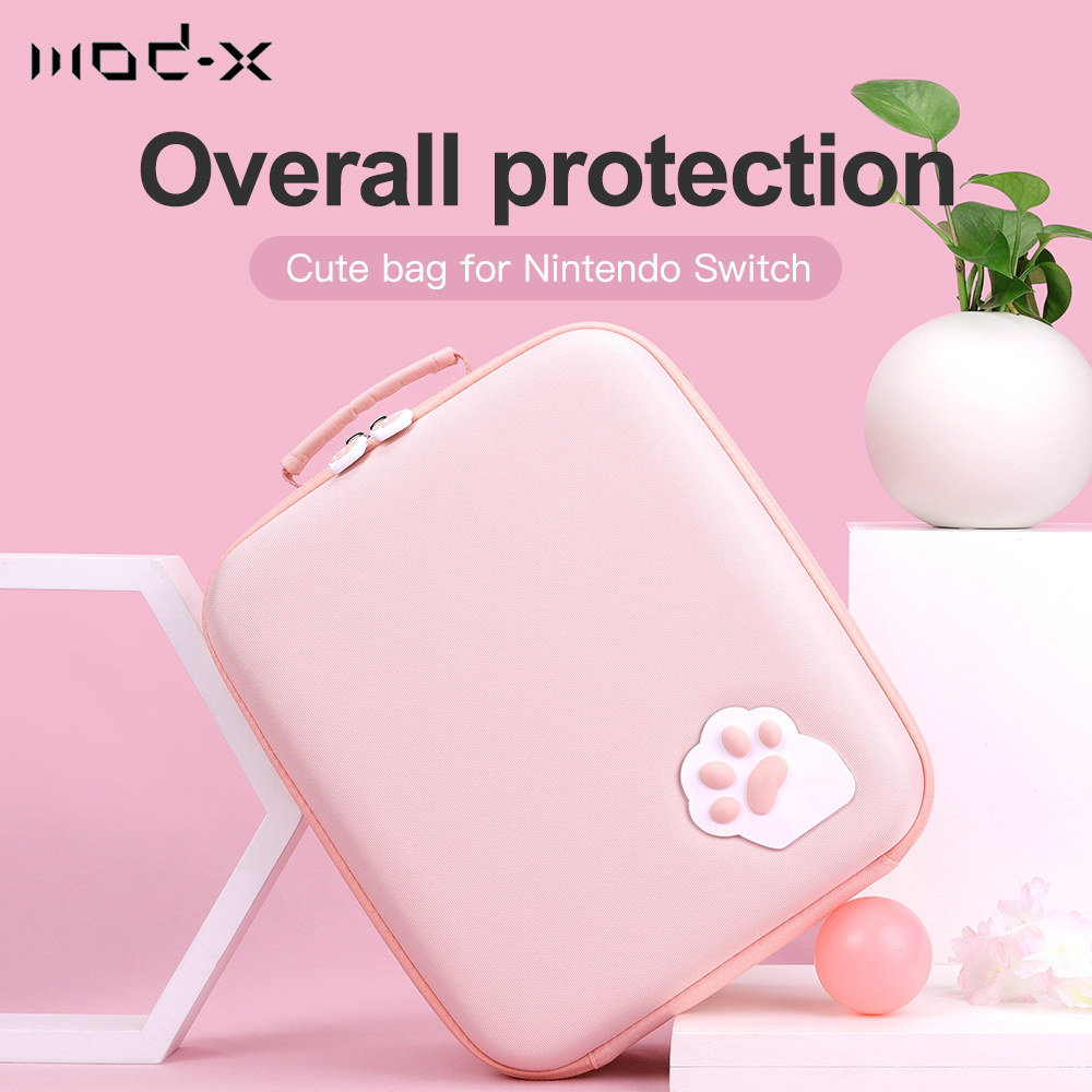 Mod-X For Nintendo Switch Bag NintendoSwitch NS NX Case Cat Claw Storage Bag Nintend Switch Shell Cover Box Console Accessories
