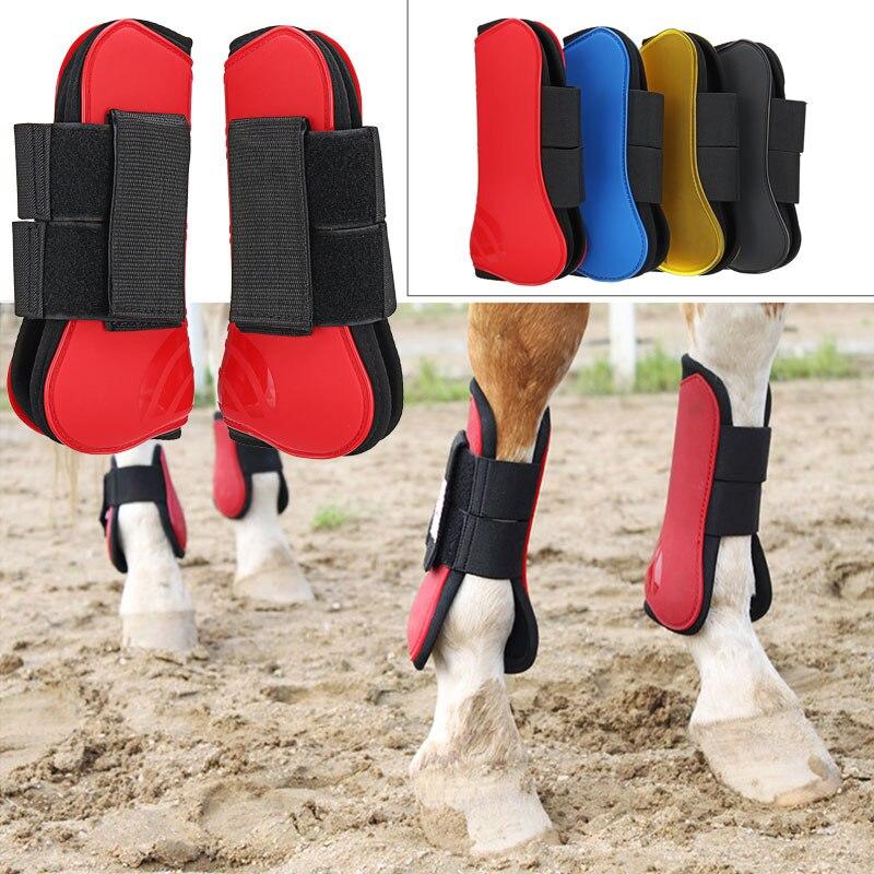 Horse Guard Tendon Horse Guard Fetlock Jump Equestrian 4 Colors PU Riding Pet Durable Partner Horse Leg Guard