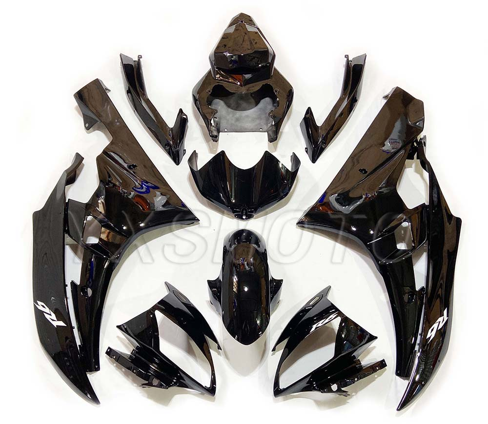 Brand New ABS Fairings YZF-R6 2006 2007 Black Bodywork Fairing Kit Yzfr6 Yzf R6 06 07 Yzf-r6
