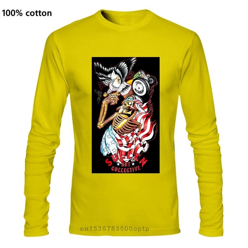 Sullen Men'S Free Bird Long sleeve T Shirt Black Clothing Tattoo 420 Tees Birthday Gift Tee Shirt