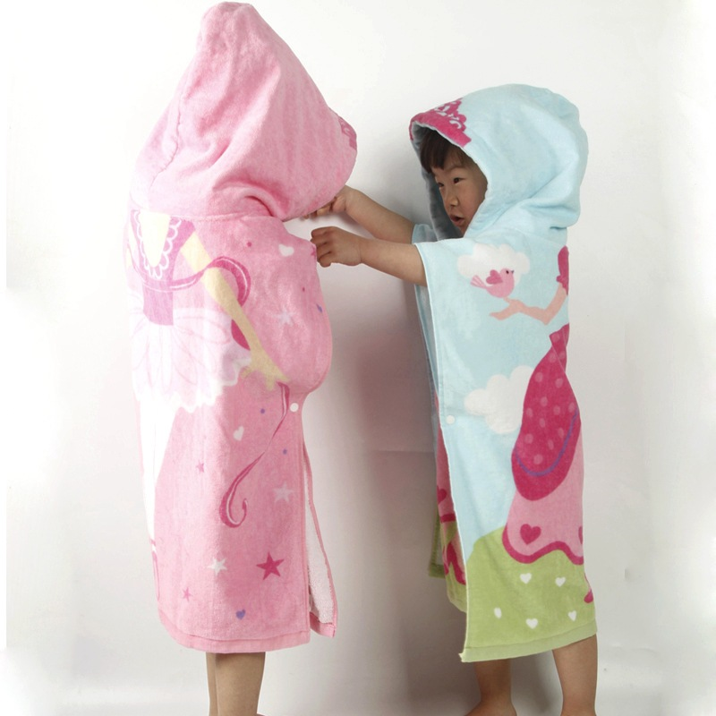 Bath Towel For Children Cloak Pullover Cotton Baby Swimming Bathrobe Mantle Extra-large Beach Towel Infant Water-Absorbing Hoode