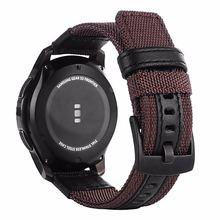 Ремешок кожаный и нейлоновый для наручных часов спортивный браслет