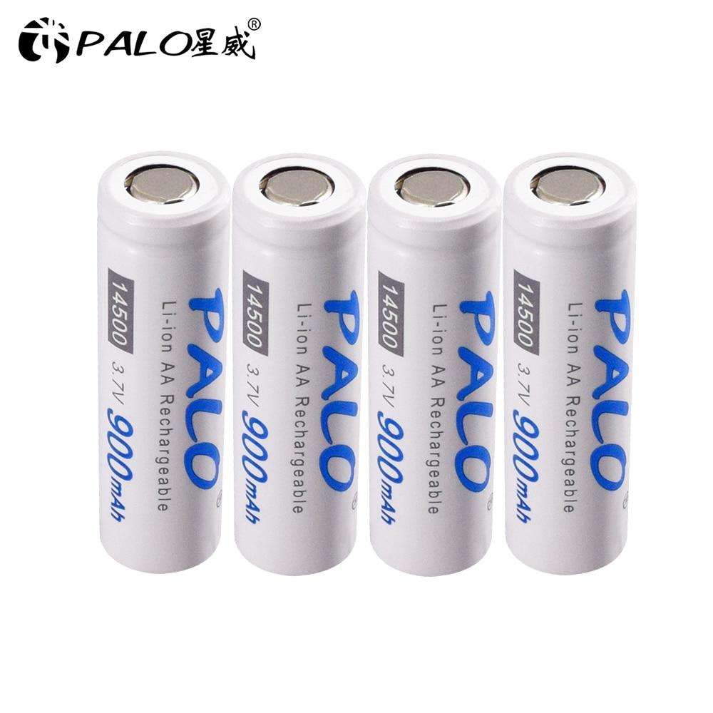 Купить palo 14500 аккумулятор 37 v 900mah литий ионный для светодиодный