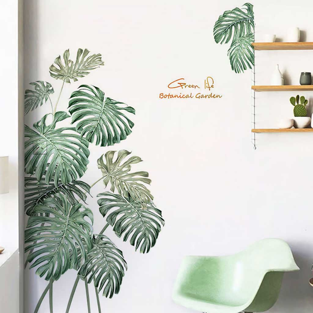 Green Plant Wall Sticker Diy Peony Rose Flowers Beach Tropical Palm Leaves Wall Stickers Modern Art Vinyl Decal Wall Mural Home Ideas Hq Tropical wall art print set of 4 palm banana monstera leaf poster botanical minimalist plant watercolour artwork home decor digital download tropical leave collection >> digital file only, no physical prints. green plant wall sticker diy peony rose flowers beach tropical palm leaves wall stickers modern art vinyl decal wall mural