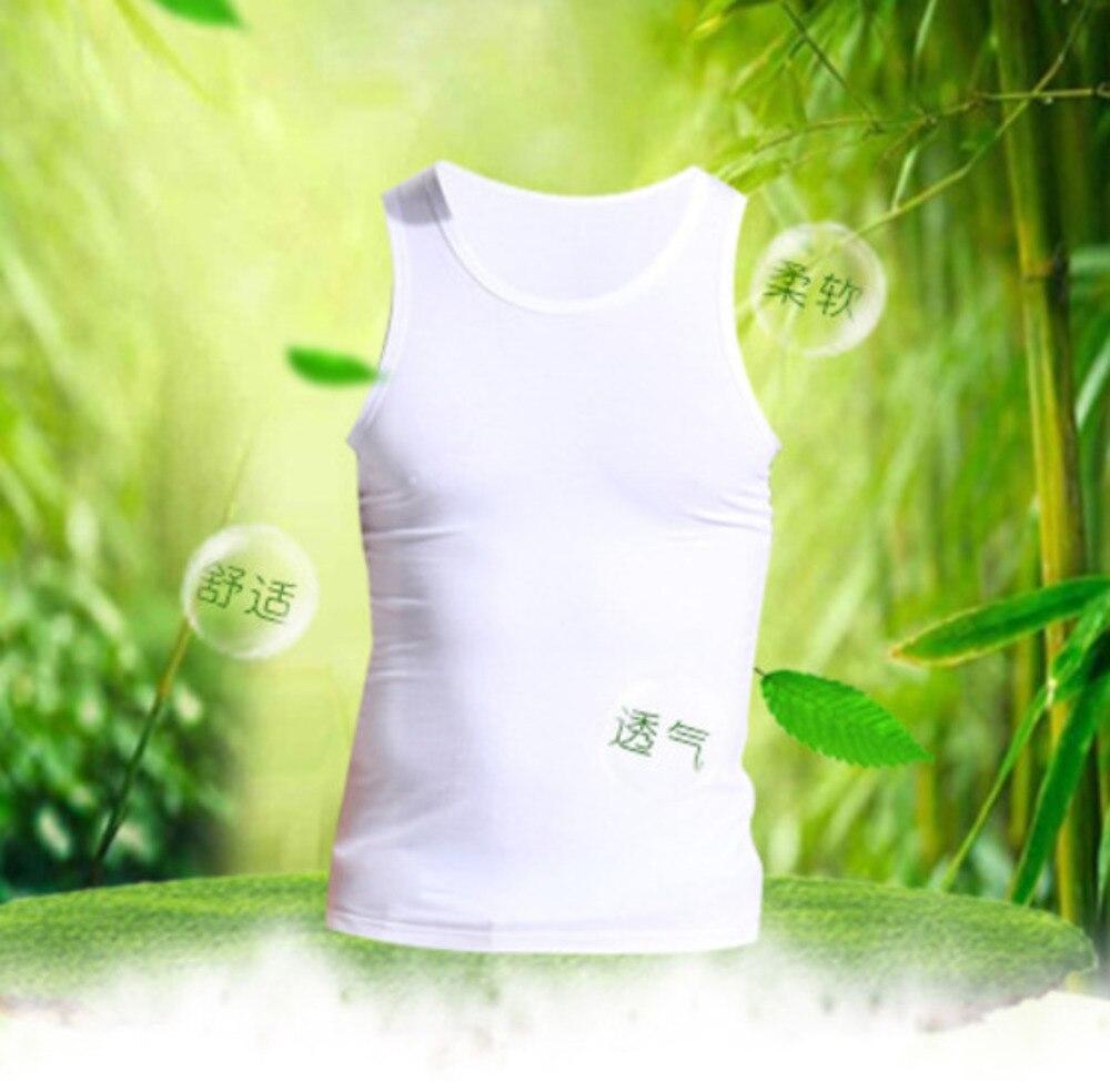 ComfortSoft Bamboo Fiber Mens Muscle Tank Top Gym Work Out  Vest White Bodysuit Undershirt Men Sleeveless Underwear Man Basics