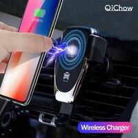 Rápido 10 w sem fio carregador de carro ventilação ar montar suporte do telefone para o iphone 6 7 8 xr xs max samsung s9 xiaomi mix 2 s huawei companheiro 20 pro|Suporte p/ celulares|   -