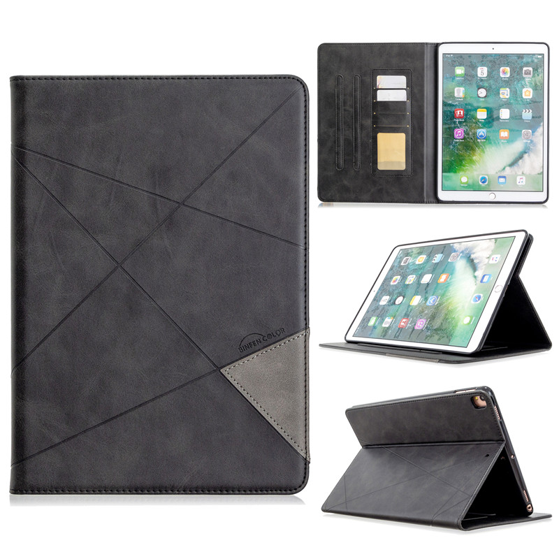 black White Luxury Flip PU Leather Tablet Case For iPad 10 2 2019 Wallet Stand Funda For iPad