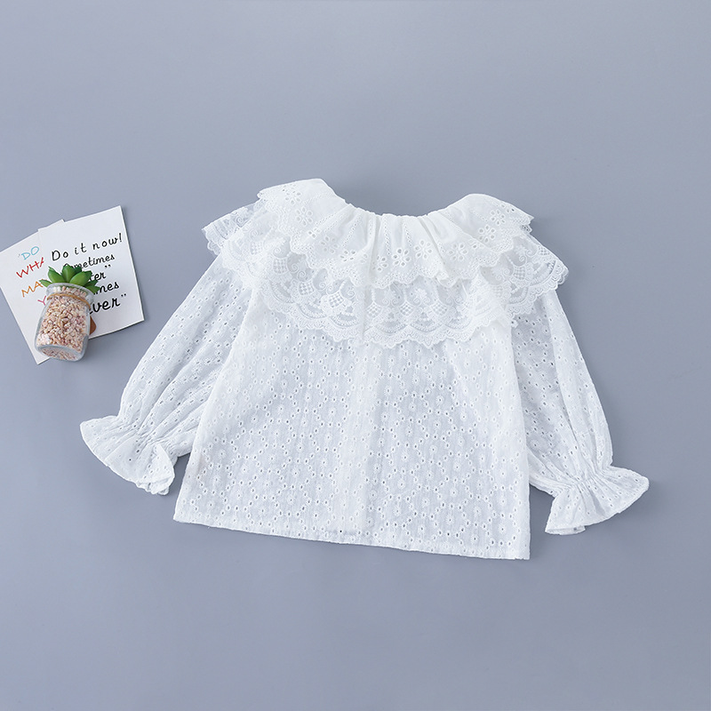 2020 Baby Girl Fashion Clothing Set Sweet Lace Tops Blouse+ Beaded Jeans Pants,kids Princess Wear Children Elegant Suits Clothe 3
