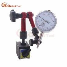 Mini indicador de discagem magnético, mini indicador de discagem de 10mm para base de suporte, indicador de teste de discagem para calibração de equipamento