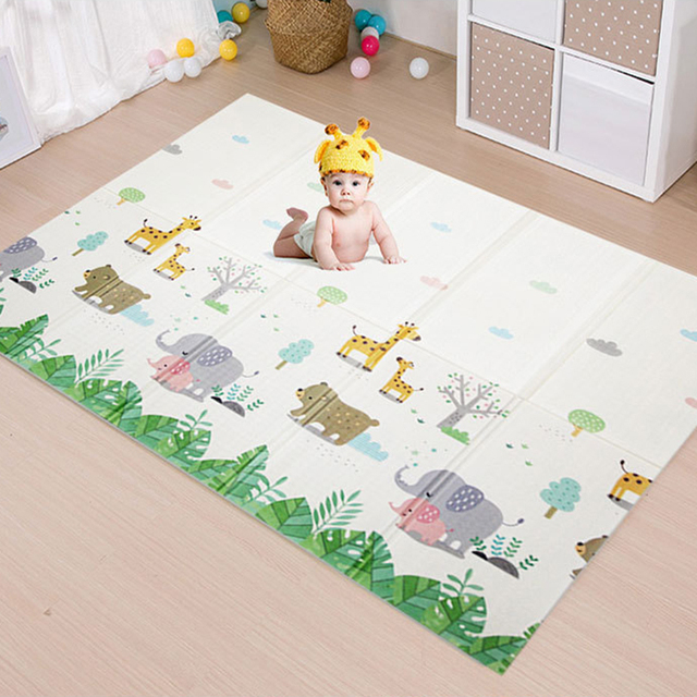 Thick Foldable Crawling Mat XPE Game Baby Play Mat Toys Double Side Carpet Kids Rug Developing Mat for Children Puzzle Game Pad