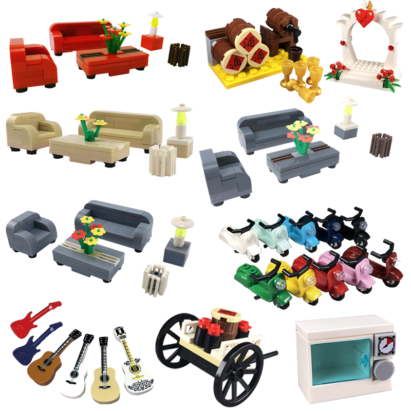 Creator City Television Furniture Model Gifts Accessories TV DIY MOC Toys For Children Kids Home Cities Building Blocks Toy Kits