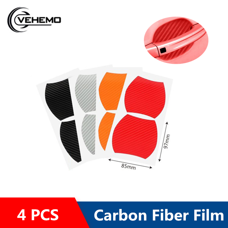 4PCS Car Sticker Protect Protector Films Automobile Protective Car Decals Invisible Collision Avoidance Door handle waterproof