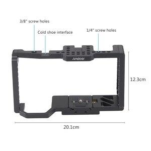 """Image 2 - Andoer kamera kafesi Video Film Film yapımı kafes + hızlı bırakma plakası 1/4 """"+ 3/8"""" dişli soğuk ayakkabı kamera 4 K/6 K BMPCC 4K 6K"""