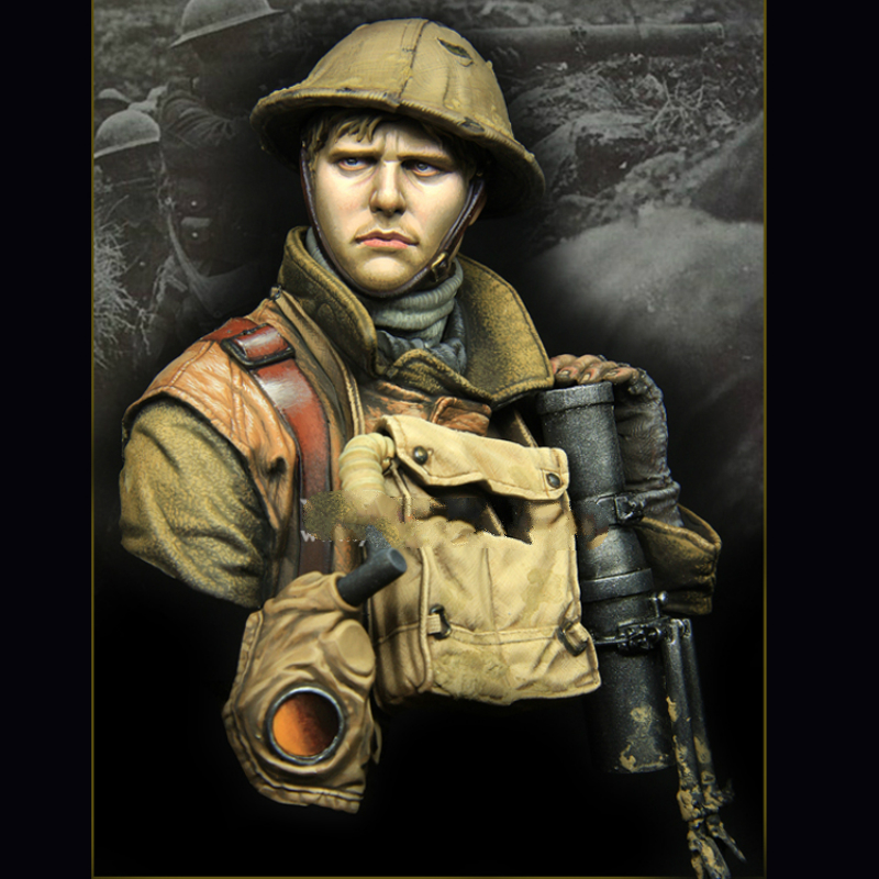 1/10 Resin bust model kit WW1 British Army X176G image