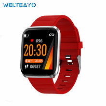 Bluetooth Smart Watch Color Screen Smart Band Sports Fitness Tracker Bracelet Heart Rate Monitor Clock Wristband for Android IOS