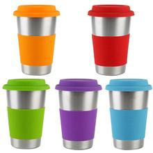 500ml American Style Stainless Steel Coffee Cup Beer Mug Heat Insulated Water Drinking Teacup Easy to Use Portable Useful