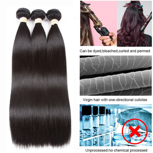 Image 3 - BEAUDIVA שיער טבעי חבילות עם סגירה ישר ברזילאי שיער 3 4 חבילות עם סגירת רמי שיער Weave