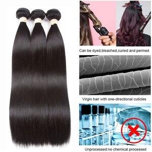 Image 3 - BEAUDIVA человеческие волосы пряди с закрытием прямые бразильские волосы 3 4 пряди с закрытием Remy волосы переплетения