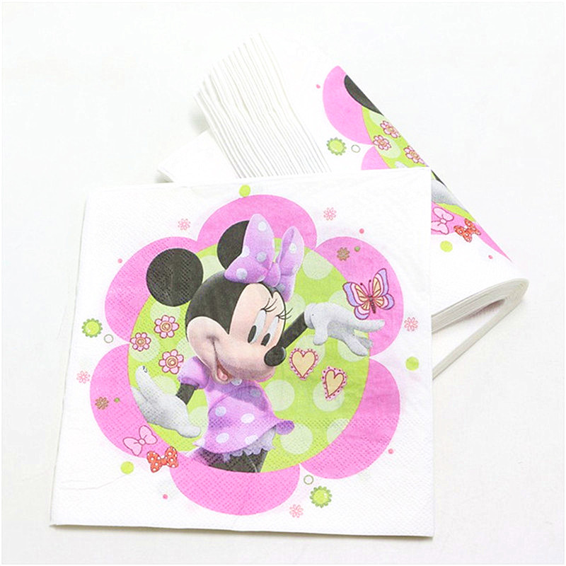 Image 4 - 83Pcs/set Minnie Mouse Cartoon Theme Baby Birthday Party Decorations Kids Evnent Party Supplies Party Decoration-in Disposable Party Tableware from Home & Garden