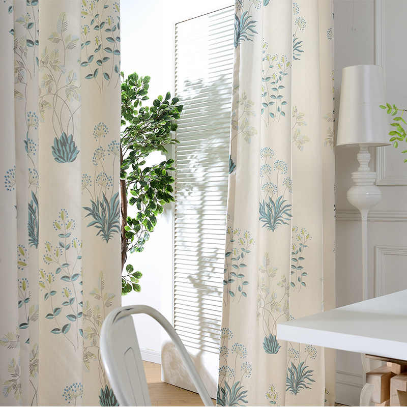 Simple  Modern Printing Curtains for Living Dining Room Bedroom