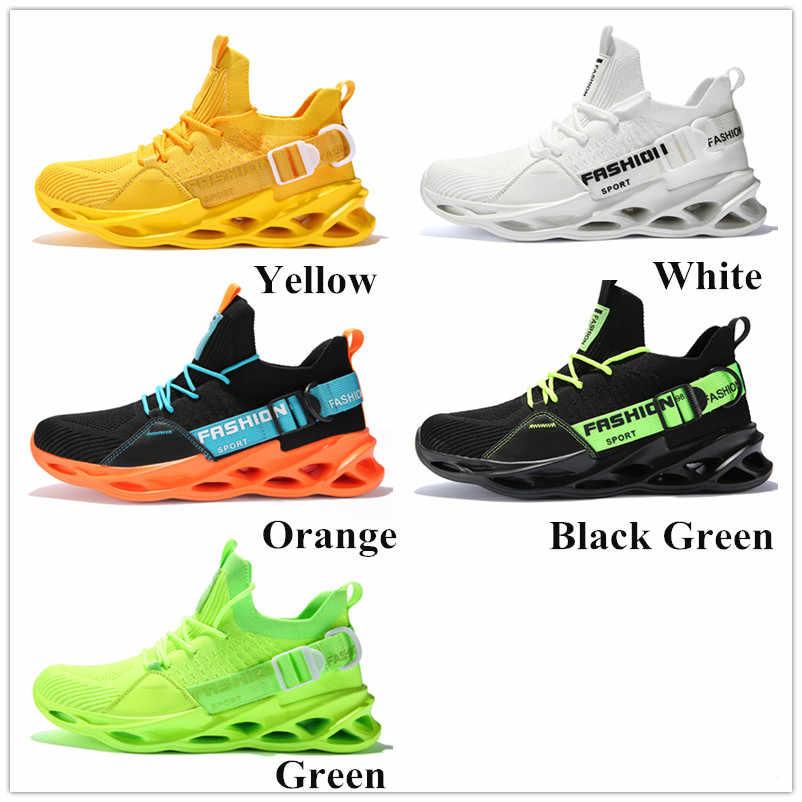 Oddychające adidasy do biegania dla mężczyzn niskie buty męskie sportowe buty 39-46 Mesh Jogging obuwie 6 kolorów Man Fashion Shoes