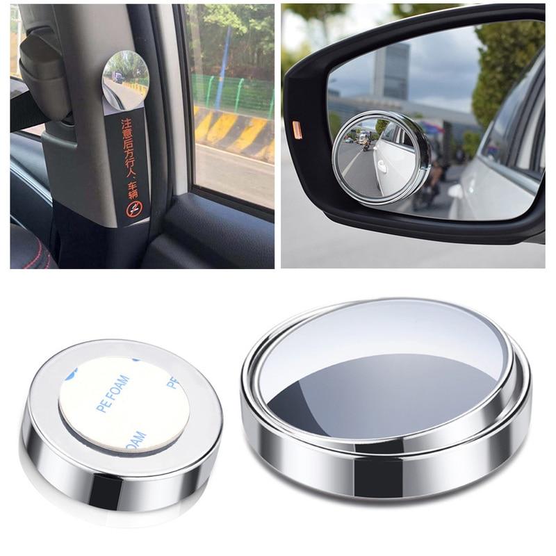 1pc 미니 백미러 자동차 후방 거울 라운드 미러 대형 비전 역방향 맹점 360 로타리 자동차 액세서리