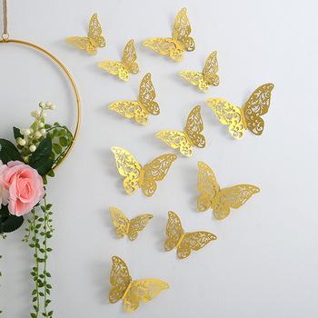 12 sztuk 3D trójwymiarowy wytłaczany papier naklejka na ścianę z motylem wesele festiwal dekoracji wnętrz DIY ozdoby do dekoracji wnętrz tanie i dobre opinie CN (pochodzenie) Butterfly Ślub i Zaręczyny przyjęcie urodzinowe Przeprowadzka THANKSGIVING Na imprezę CHRISTMAS Walentynki