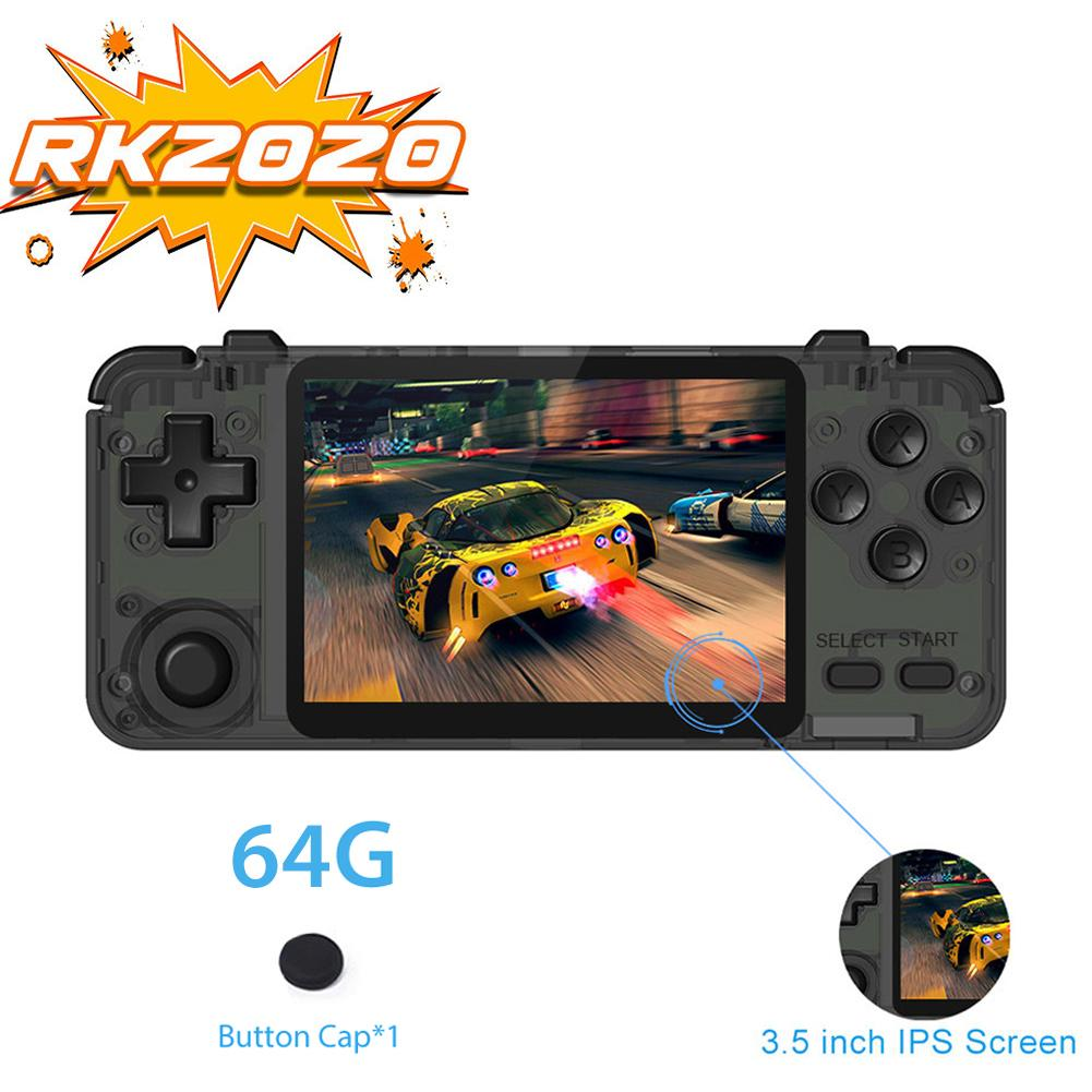 RK2020 Retro Game Controller 3.5inch IPS Screen Portable Handheld Game Console PS1 N64 Games Video Game Player Gaming Machine