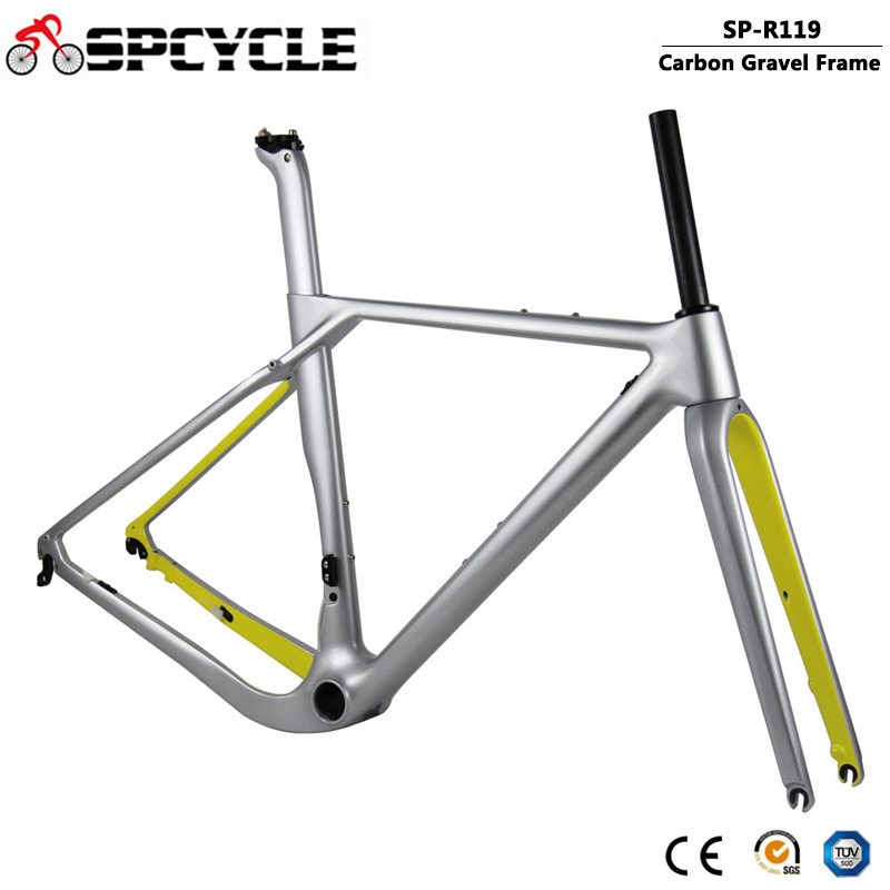 Spcycle Full Carbon Gravel Bicycle Frame Aero Disc Brake Cyclocross Bike Frame T1000 Carbon Road Frameset Max Tire 700*40C