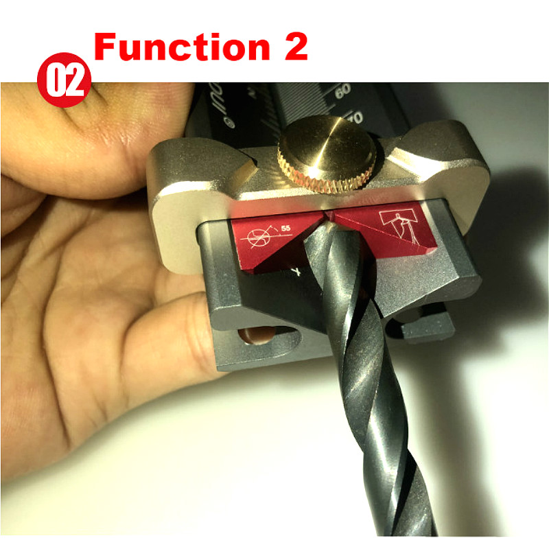 Multi-functional Drill Limit Ring Installation Aid Woodworking Tools Router Saw Table Height Gauge Drill Angle Measurer Rule (Slot Regulator)