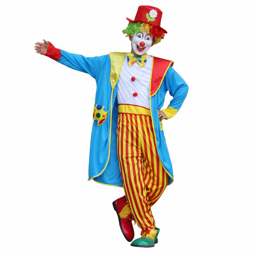 Umorden engraçado listrado crianças meninos adolescentes circo palhaço traje homem plus size 4xl 5xl halloween festa de ano novo vestido extravagante