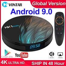 Decodificador de TV HK1 Max, Android 9 9,0, RK3318, dispositivo de TV inteligente, 4GB de RAM, 64GB/128GB, H.265, BT4.0, compatible con Play Store, Youtube, 4K