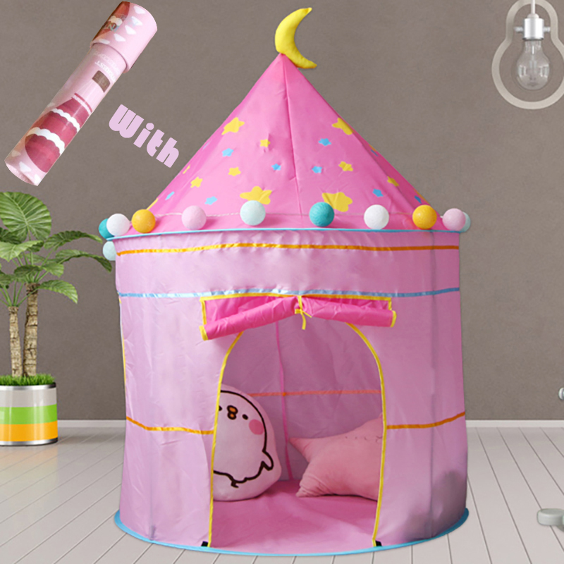 kids tent tipi portable toys toddler games house ball pool castle pit boys girls indoor outdoor folding bubble tent baby gifts in Toy Tents from Toys Hobbies