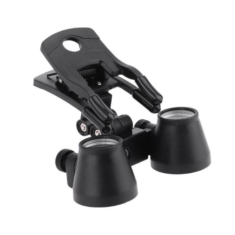 Tools : 2 5X 3 5X Dental Loupe Binocular Magnifier Dentistry Clip Loupe