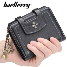 Baellerry Women Wallets Fashion Top Quality Small Wallet PU Leather Purse Short Female Coin Zipper Clutch Coin Purse Credit Card