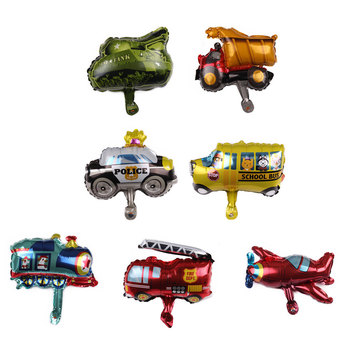 Mini Vehicle Balloon Car Airplane Foil Balloons Kids Birthday Decoration Helium Air Ball Wedding Baby Shower Party Supplies image