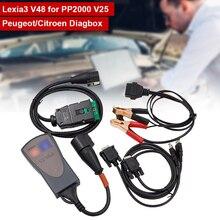 LEXIA3 PP2000 Diagbox شريحة تشخيص كاملة لسيتروين/بيجو ، ماسح ضوئي للسيارة ، مع البرامج الثابتة V7.83 V25 ، ملحقات السيارة