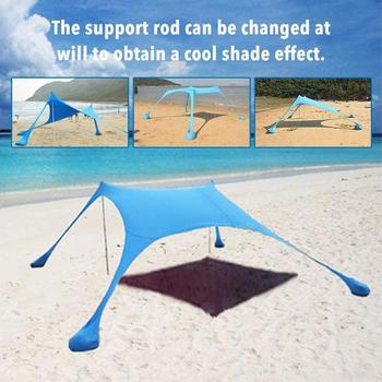 Awning Waterproof Tarp Tent Camping Tent Ultralight Beach Sun Shade Tent Anti UV Awning Tents Family Party Outdoor Sunshelter outdoor beach tents shelters shade uv protection ultralight tent for fishing picnic park
