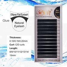 Matte Cashmere Flat Eyelash Extension Individual Softer Ellipse False Cilias Faux Mink Split Tips