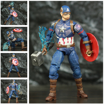 Marvel Avengers Endgame Captain America with Mijolnir 7inch. 1
