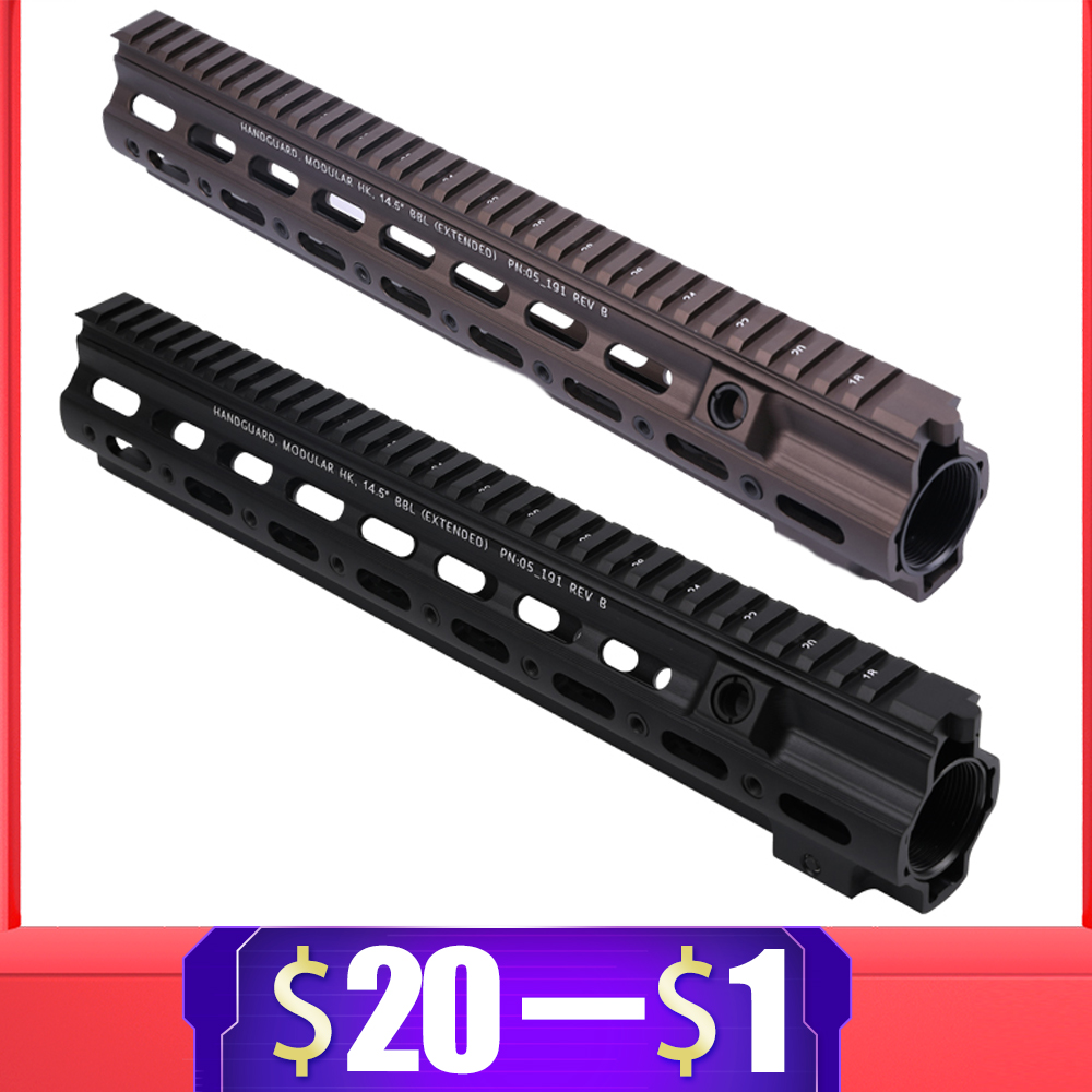 14.5 Inch Aluminum Hard Coat Anodized Style Gel Blaster Rail Handguard For Hk416 For AR AEG Airsoft M4 M16 Paintball Accessories