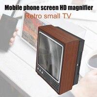 Novo 3d portátil universal amplificador de tela do telefone retro forma televison telefone móvel magnifier dom668