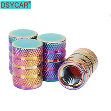 4Pcs/Lot Universal Multicolor Aluminum Car Tyre US Valve Cylindrical shape Air Caps Bicycle Motorcycle Tire styling